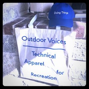 Outdoor Voices cap & tote